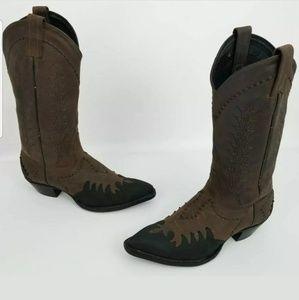TONY LAMA Western Cowboy Boots Women's Brown Black